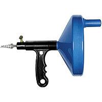 Трос для прочистки труб, L-3,3 м, D 6 мм, пластмассовый корпус Сибртех