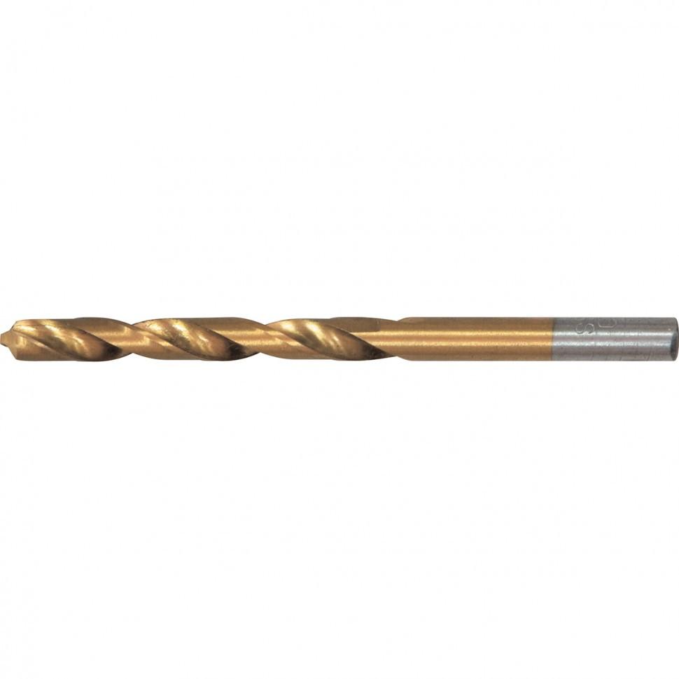 Сверло по металлу, 2,5 мм, HSS, нитридтитановое покрытие, цилиндрический хвостовик Matrix