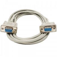 Кабель DB9 F/F Normal (1:1) Cable COM (RS-232) 9pin (мама-мама) (1.5м)