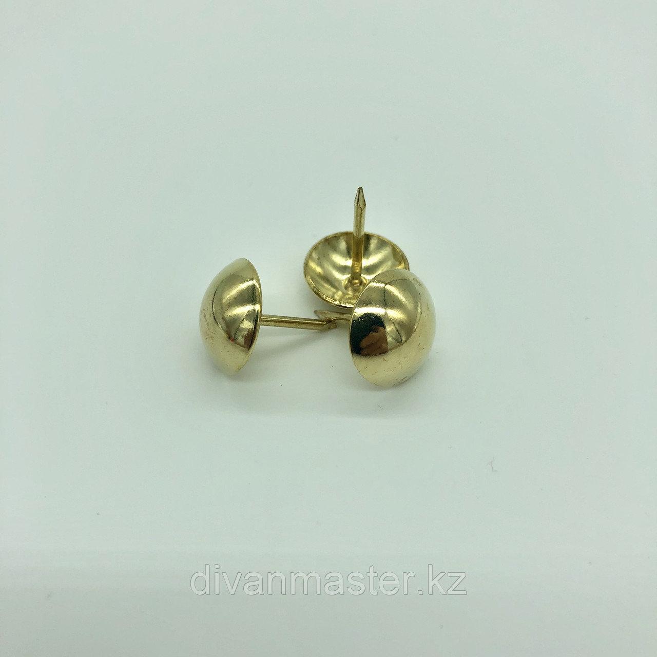 Гвозди декоративные 19 мм, золото - 200 штук.Китай