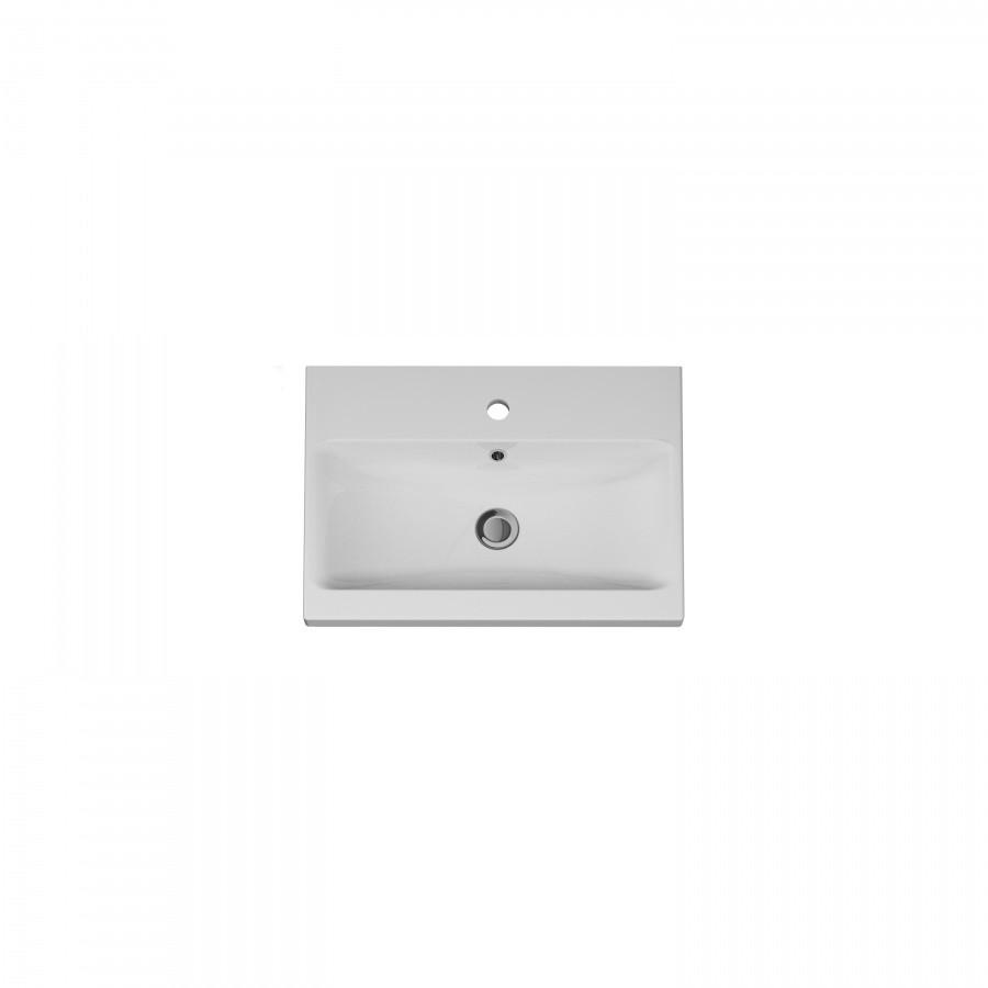 AM.PM GEM, Раковина мебельная, керамическая, 60 см, встроенная, цвет: белый, глянец