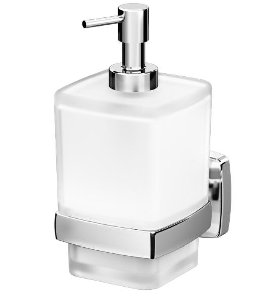 Стеклянный диспенсер для жидкого мыла AM. PM с настенным держателем