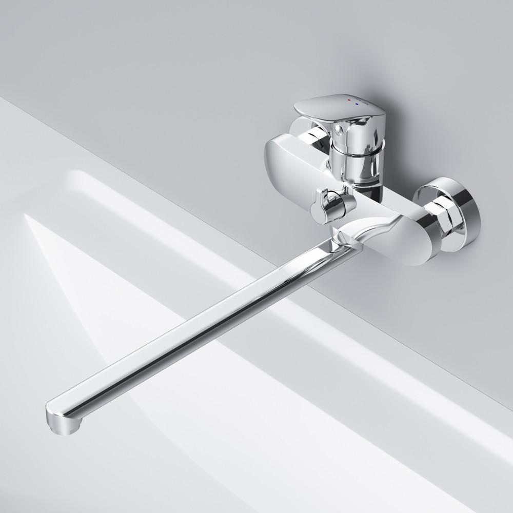 Смеситель для ванны и душа с длинным изливом AM.PM F8090016