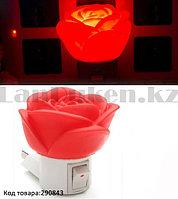 """Светодиодный ночник светильник от сети """"Роза"""""""