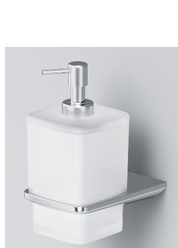Стеклянный диспенсер для жидкого мыла, с настенным держателем AM.PM