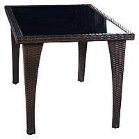Стол квадратный из ротанга 800*800*720