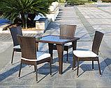 Стол квадратный из ротанга 800*800*720, фото 2