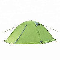 Палатка 2х местная с юбкой походная, водонепроницаемая, алюминиевые вставки