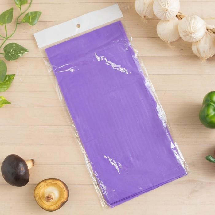 Скатерть для дачи Хозяюшка Радуга, цвет фиолетовый 137×274 см