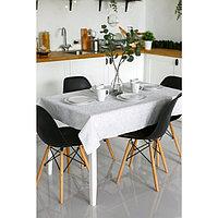 Скатерть прямоугольная Grace, размер 110×150 см, принт вензеля светло-серый