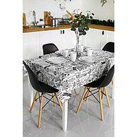 Скатерть прямоугольная Grace, размер 110×150 см, принт версаль белый