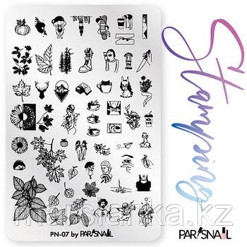 Пластина для стемпинга PN-07 (9.5*14.5см) ParisNail