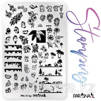 Пластина для стемпинга PN-11 (9.5*14.5см) ParisNail