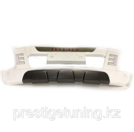 Накладка (губа) переднего бампера с ДХО Hilux/Vigo 2012-15