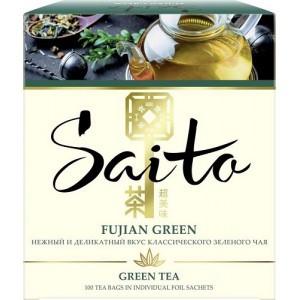 Зеленый чай Saito Fujian Green, 100 пакетиков