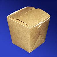 Россия Упаковка для лапши крафт/ламинир 10,5х9,0х10,5см 460мл склеенная