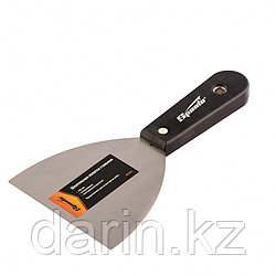 Шпательная лопатка стальная, 100 мм, полированная, пластмассовая ручка Sparta
