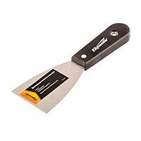 Шпательная лопатка стальная, 63 мм, полированная, пластмассовая ручка Sparta, фото 1