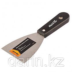 Шпательная лопатка стальная, 75 мм, полированная, пластмассовая ручка Sparta