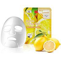 Маска для лица тканевая Lemon