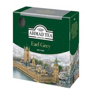 Чёрный чай Ahmad Tea Earl Grey, 100 пакетиков