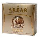 Чёрный чай Akbar Золотой, 100 пакетиков