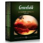 Чёрный чай Greenfield Golden Ceylon, 100 пакетиков