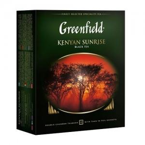 Чёрный чай Greenfield Kenyan Sunrise, 100 пакетиков