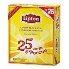 Чёрный чай Lipton юбилейный, 100 пакетиков