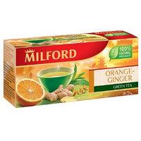 Зелёный чай Milford апельсин-имбирь, 20 пакетиков