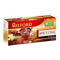 Чёрный чай Milford с пряностями, 20 пакетиков