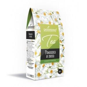 Чай Polezzno ромашка и липа, 20 пакетиков