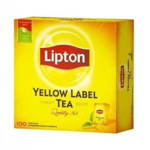 Чёрный чай Lipton Yellow Label, 100 пакетиков