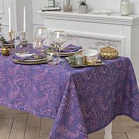 Набор столовый «Огурцы», скатерть 135 × 180 см, салфетки 6 шт., цвет фиалковый,