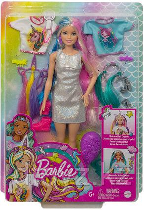 Barbie со съемными разноцветными прядями и модными аксессуарами в наборе GHN03
