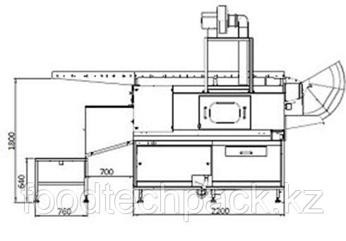 Машина для мойки ящиков с опрокидывающим механизмом 240 шт./час