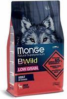 1983 Monge Bwild Dog, Монже корм для взрослых собак всех пород с мясом оленя, низкозерновой уп.2,5кг.