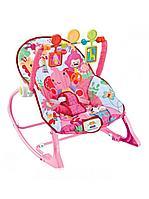 Шезлонг детский FitchBaby, розовый