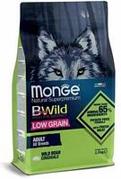 1990 Monge Bwild Dog Boar, Монже корм для взрослых собак всех пород с мясом кабана, низкозерновой, уп.2,5кг.