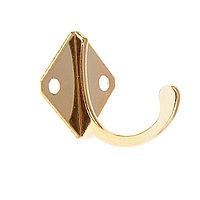 Крючок мебельный KM1001GP, однорожковый, цвет золото (набор 20шт)