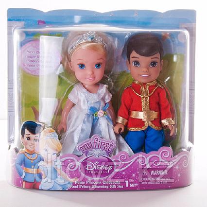 Disney Princess 756880 Принцессы Дисней Золушка и принц Чаминг, 15 см.