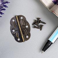 Петля для шкатулки металл фигурная бронза (набор 6 шт) 1,9х2,8 см
