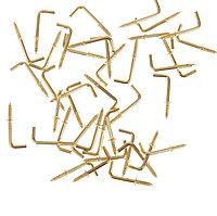 Крючок металл (набор 40 шт) золото 2,5х0,5 см