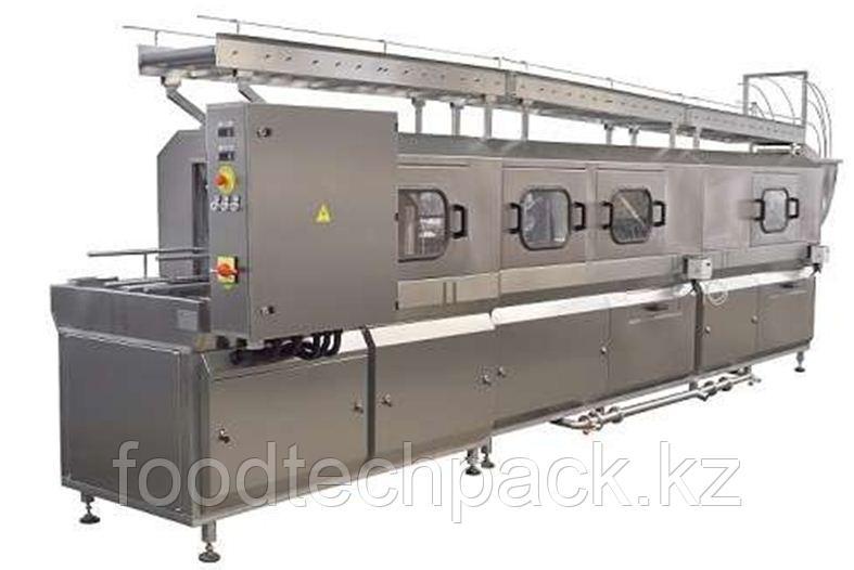 Машина для мойки ящиков с опрокидывающим механизмом 450 шт./час