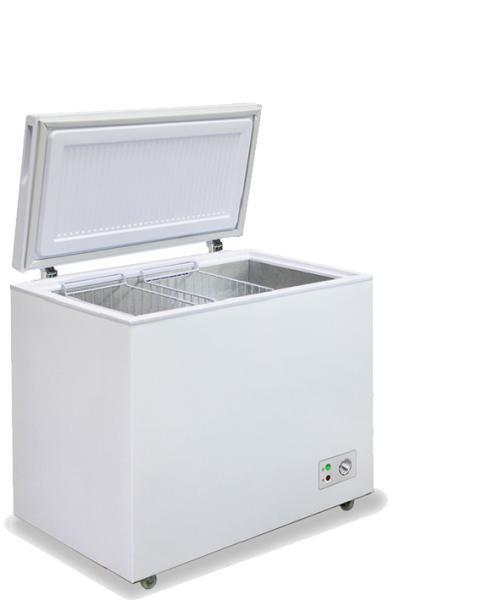 Морозильный ларь с глухой крышкой бирюса 305КX