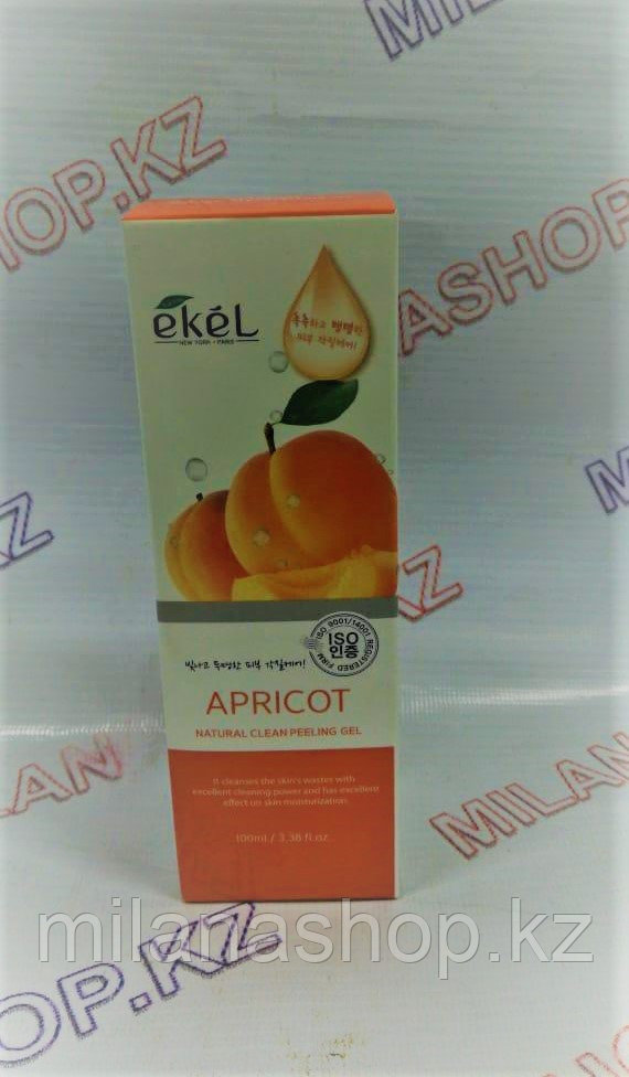 Ekel Apricot Natural Clean Peeling Gel, 100мл -  Пилинг-гель (скатка) для лица с экстрактом Абрикоса