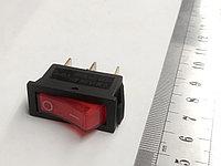Клавиша 2 положения с/ф 3 контакта  15А (3с) подсветка 220v, фото 1