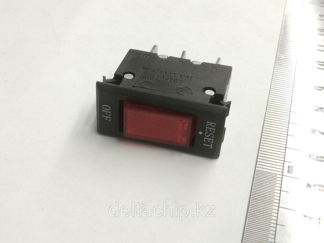 Клавиша 2 положения с фиксацией 3 конт. предохранитель 10А подсветка