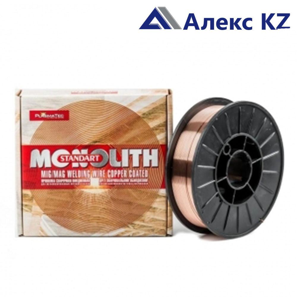 Проволока сварочная с омедненной поверхностью Св-08Г2С ТМ MONOLITH д 0,8 мм:уп 4 кг