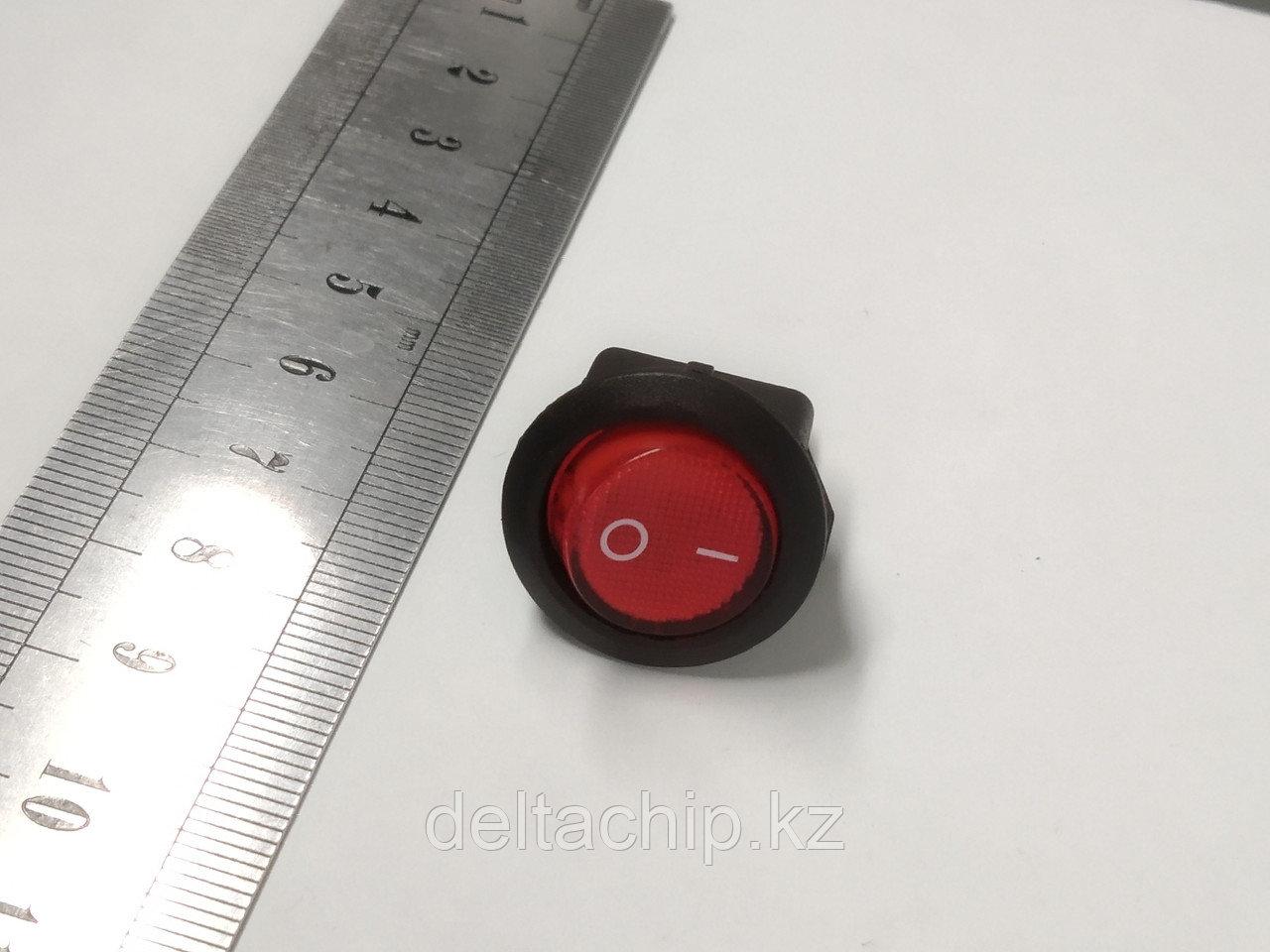 Выключатель 36-2570  клавишный  круглый 250V 6A